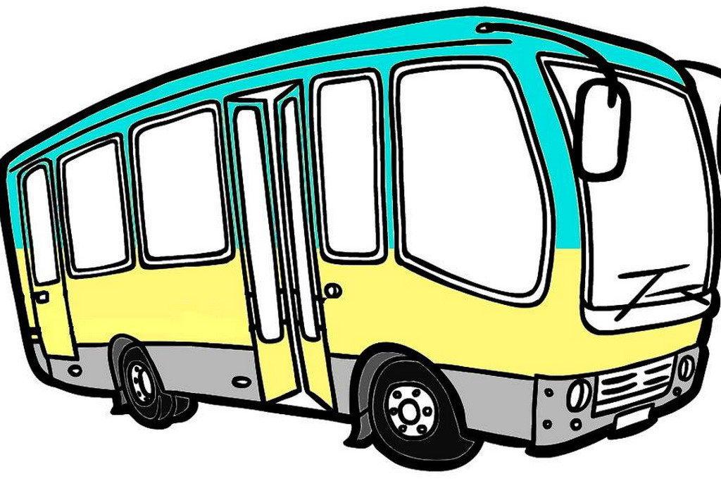 рисунок автобус картинка взялся