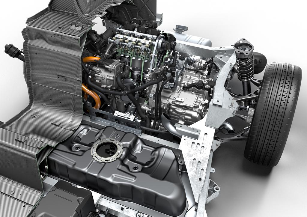 гибридная система привода с подзарядкой от электросети BMW i8
