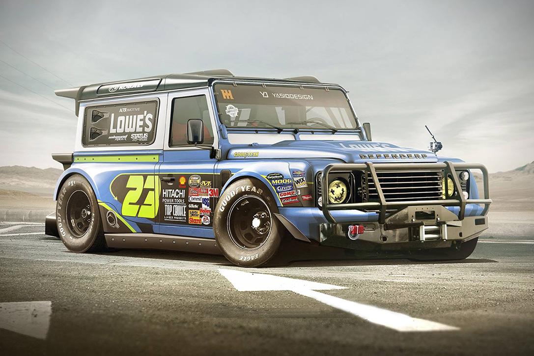 Land Rover Defender превратили в болид NASCAR