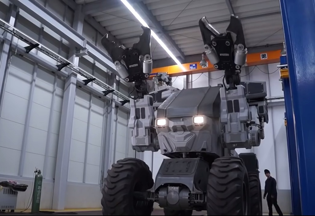 «Супер Годзилла» - робот на колесах для сноса зданий (+ВИДЕО)