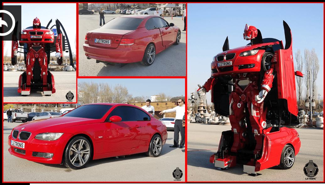 Letrons – первая в мире BMW, способная трансформироваться в робота