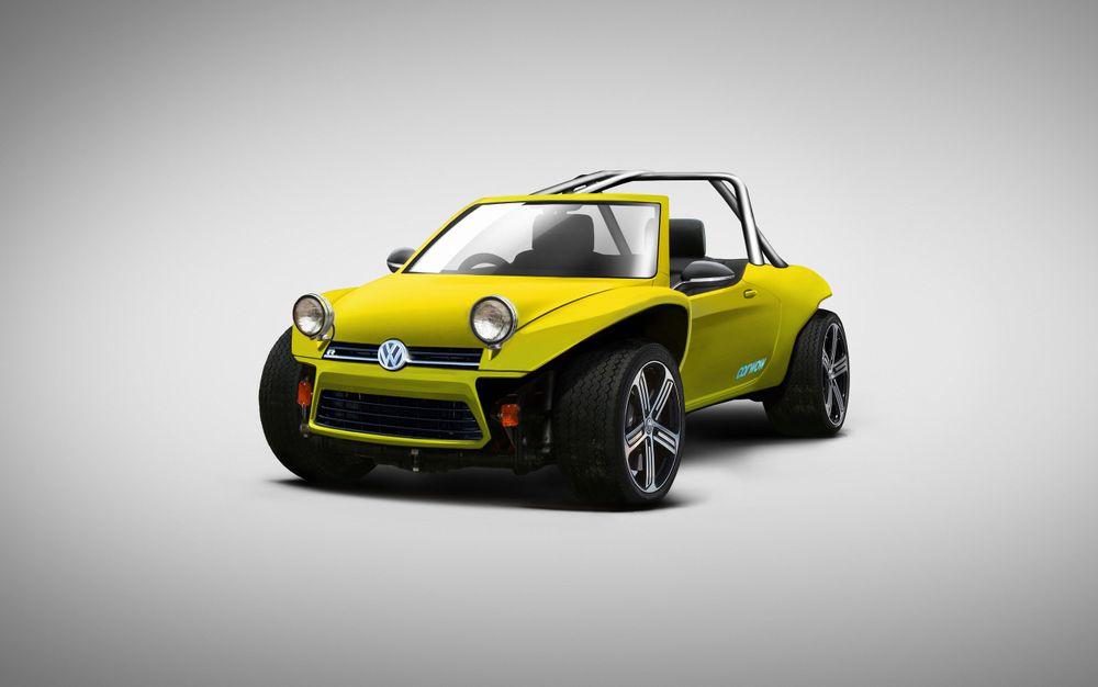 Классический VW Beach Buggy + горячий хетчбэк VW Golf
