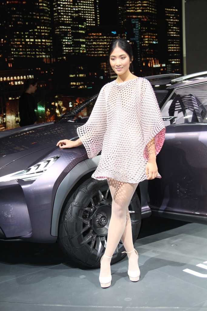девушки Парижского автосалона 2016