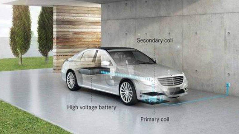 Гибрид Mercedes-Benz S500e получит беспроводное зарядное устройство