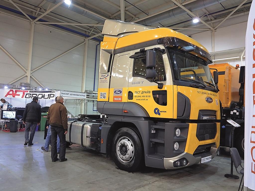Помимо коммунальной техники компания «АВТЕК» показала на выставке и магистральный седельный тягач – модель 1848Т стандарта Евро 6.