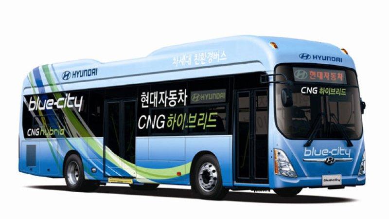 Газово-электрический автобус Hyundai BlueCity