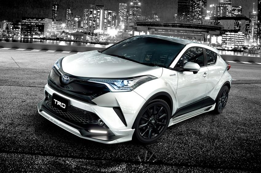 Toyota C-HR. Злобный тюнинг нового кроссовера от TRD и Modellista