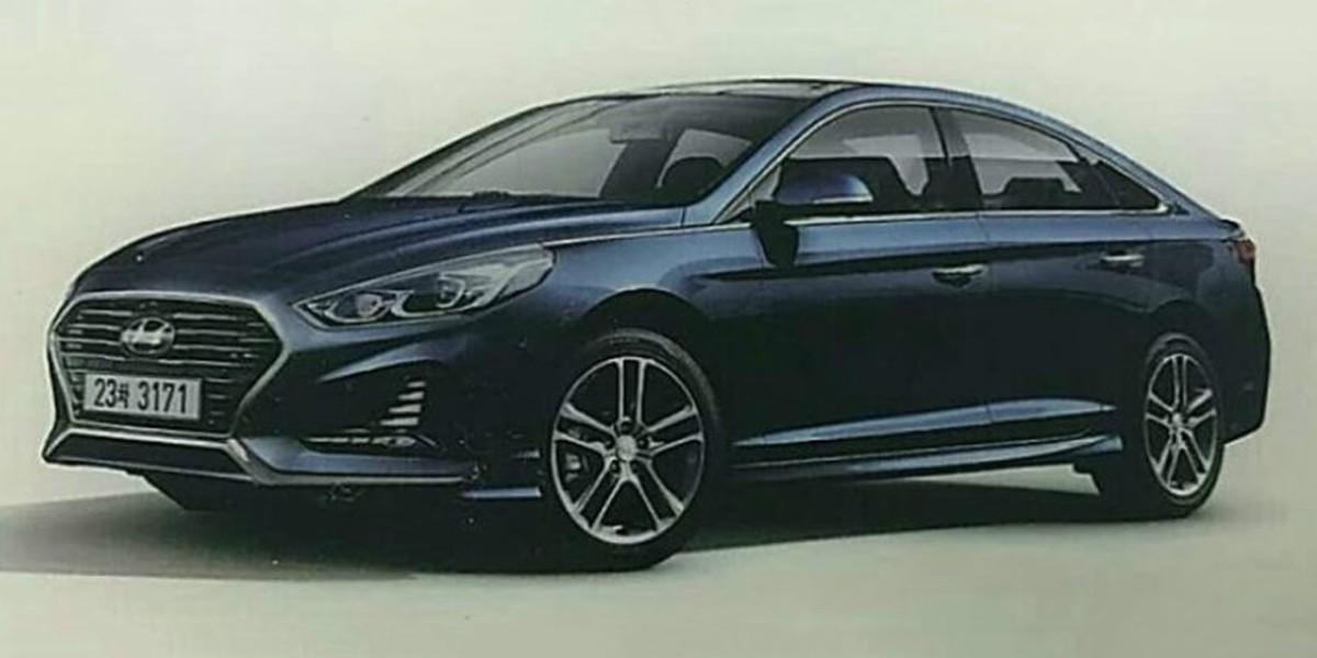Каким будет обновленный седан Hyundai Sonata 2018