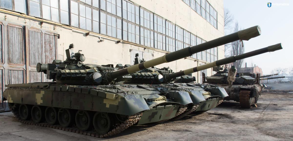 Украинские танки на Харьковском бронетанковом заводе