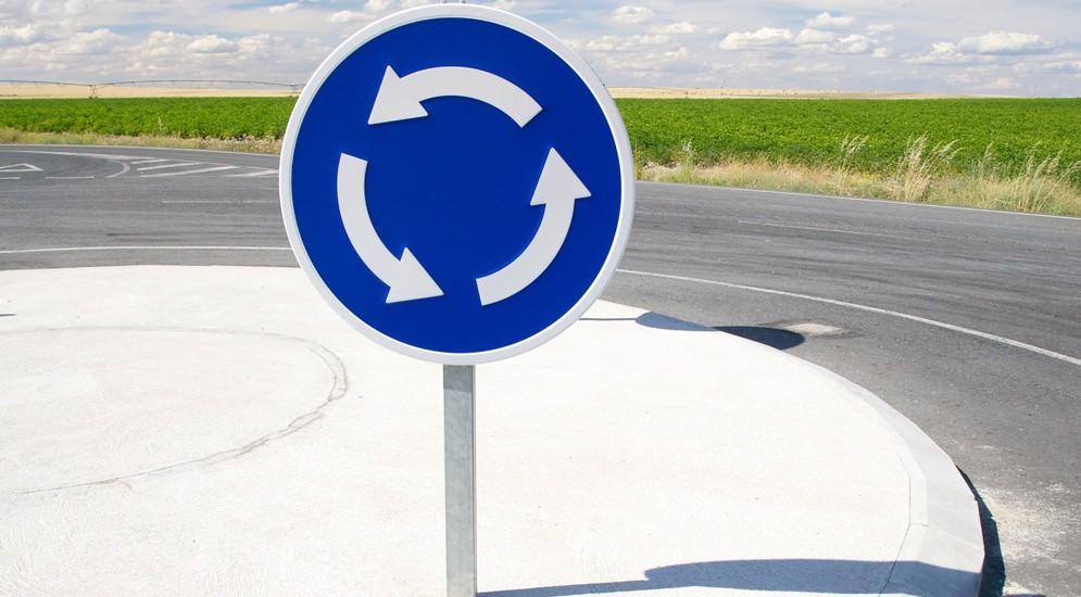В Украине изменен порядок проезда перекрестков с круговым движением