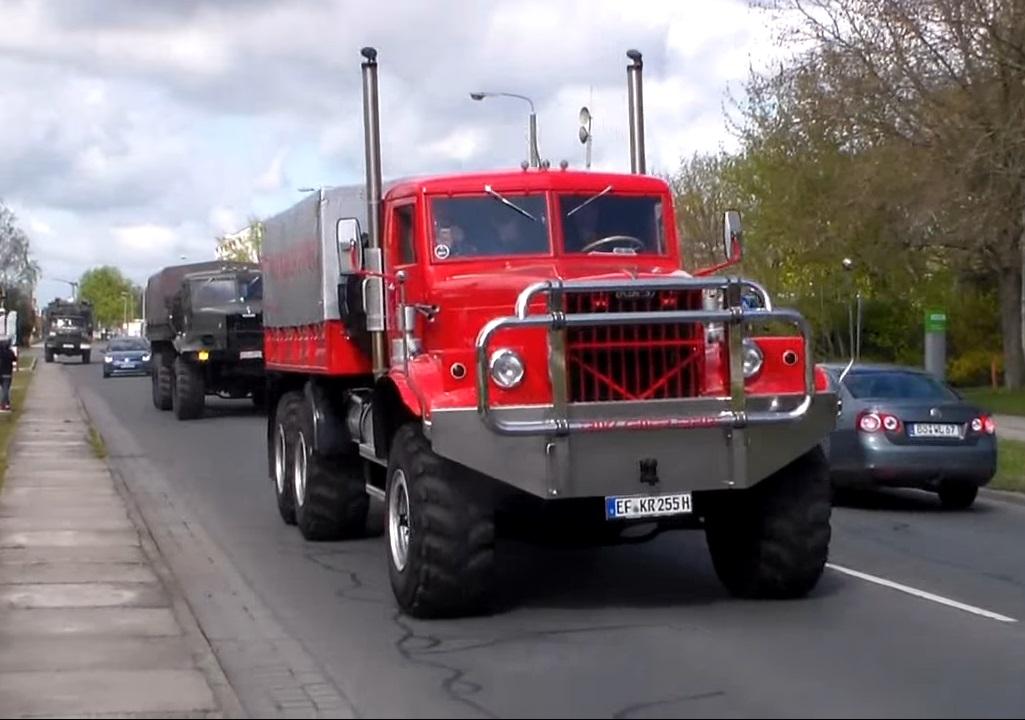 Автомобили КрАЗ на дорогах Германии