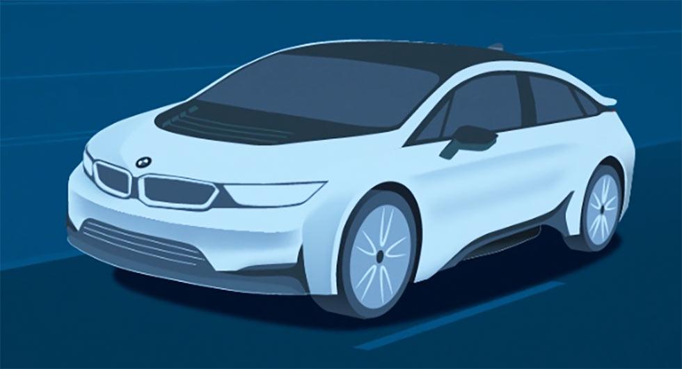 BMW i5 2019: изображения и видео нового электрокара БМВ