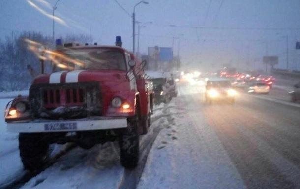 Снегопад в Украине: