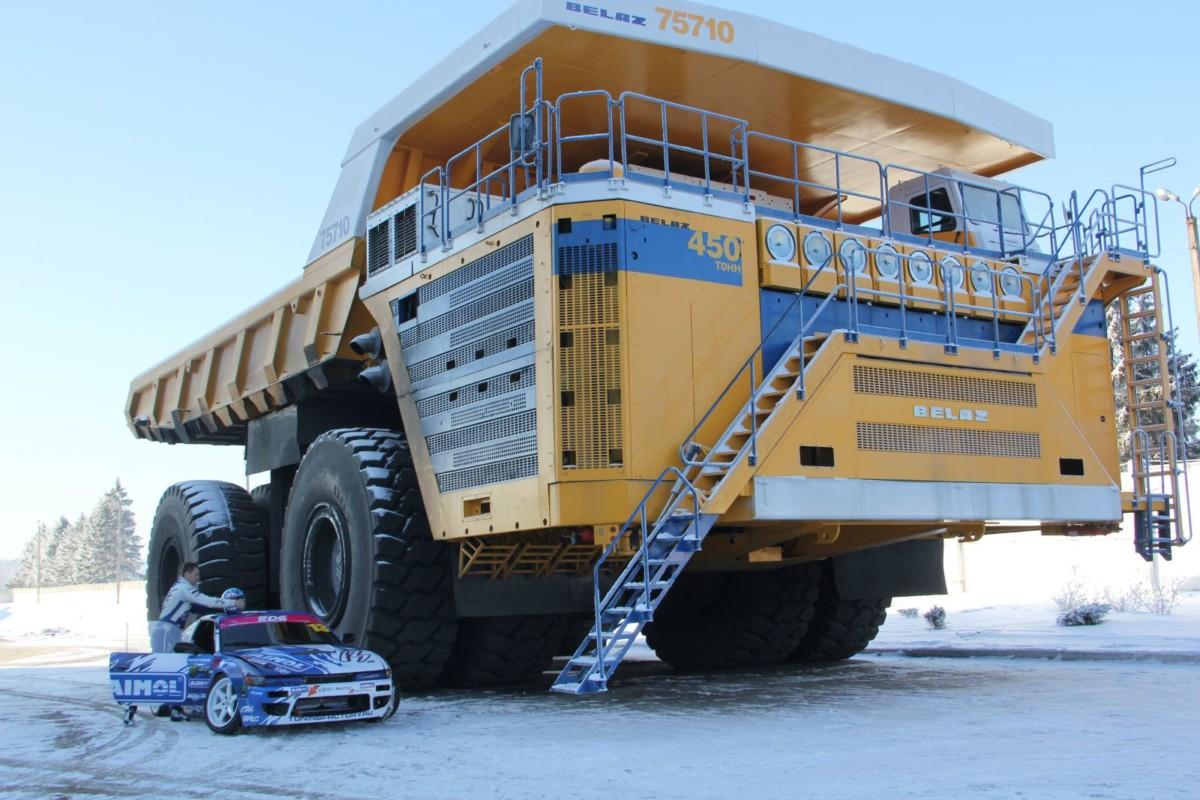 Фотосессия с 450-тонным самосвалом БЕЛАЗ