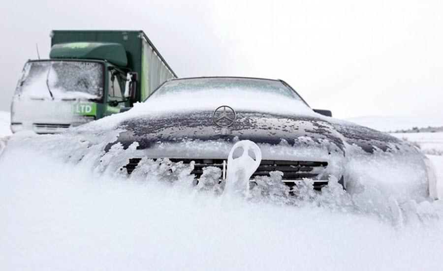 Вниманию автомобилистов: в Украину идут сильные морозы