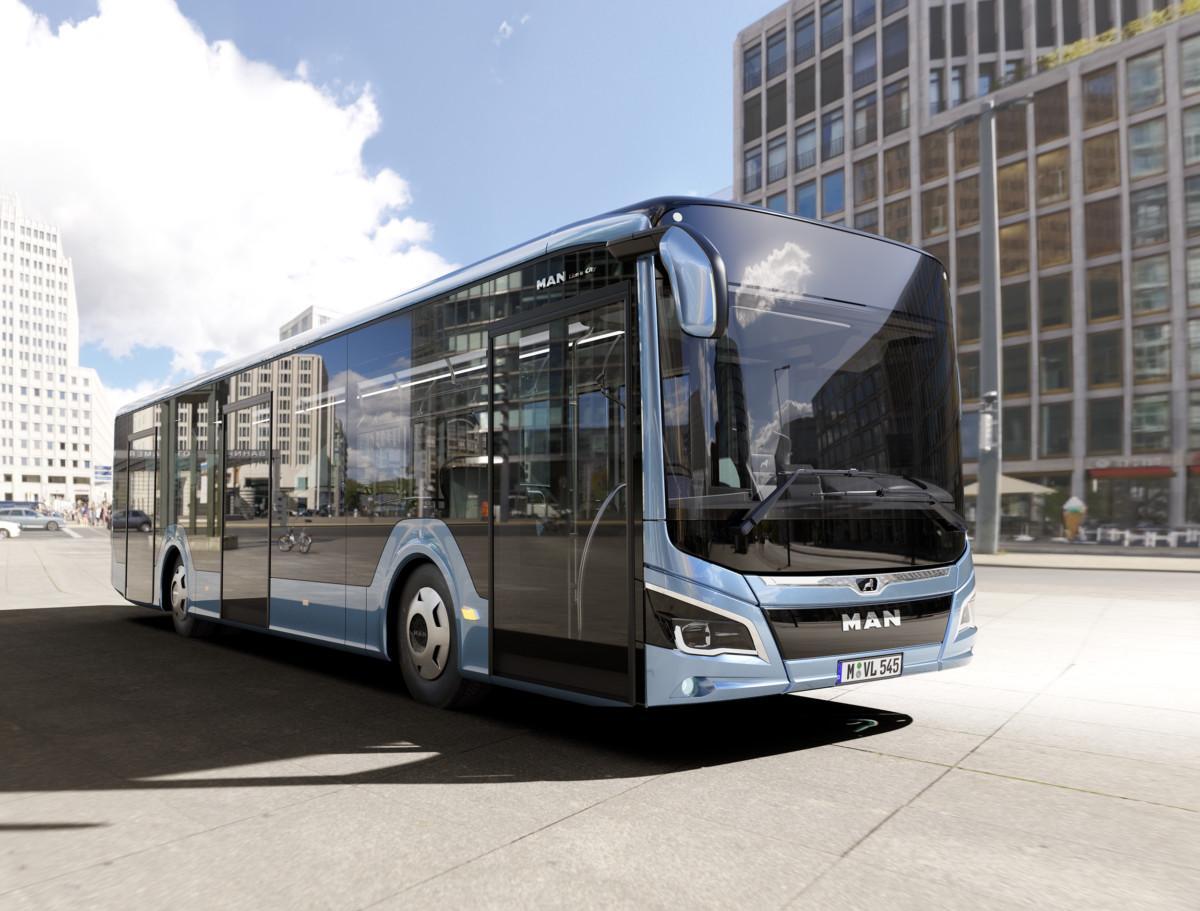 Новый низкопольный автобус MAN отличается светодиодной оптикой