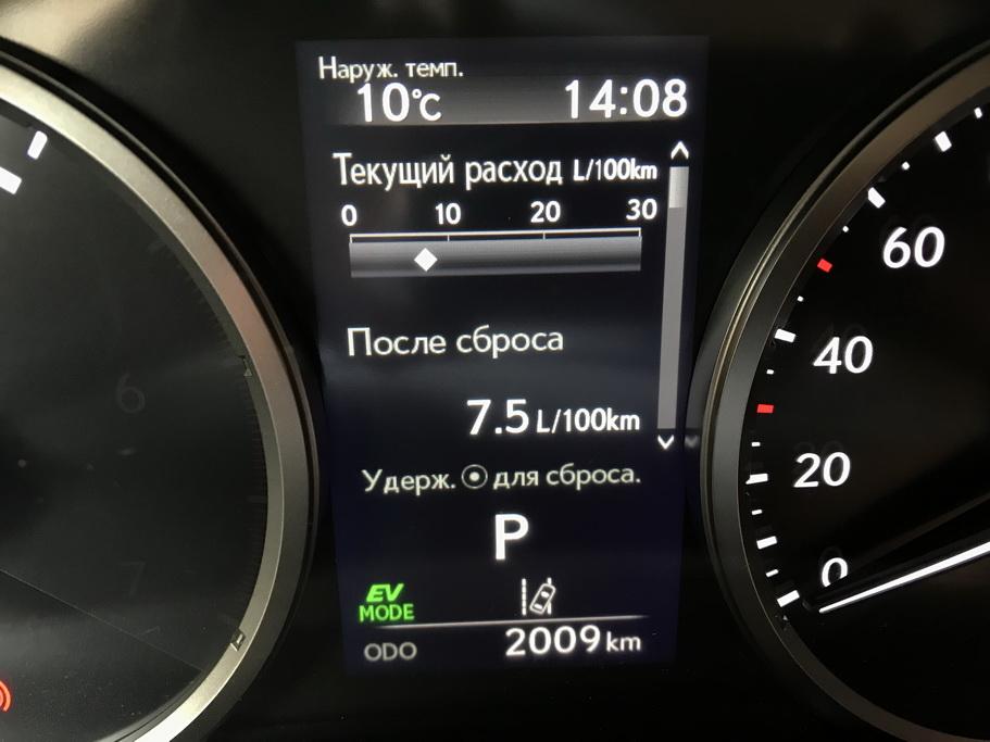 Расход топлива Lexus NX 2018