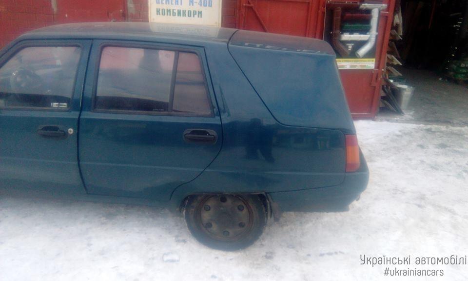 ЗАЗ Славута с вытянутой крышкой багажника