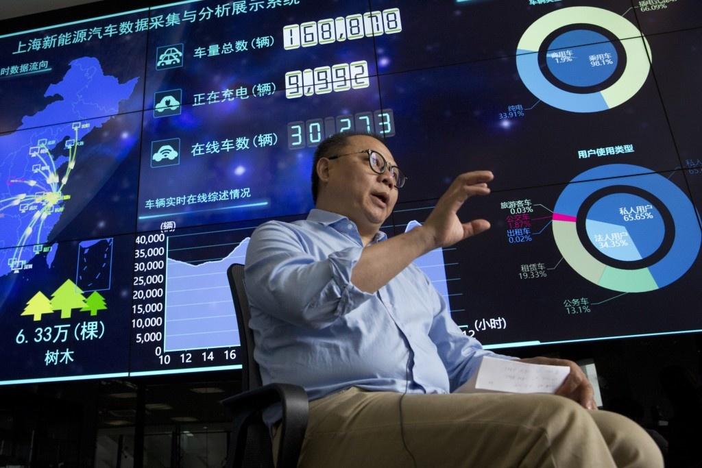 Центр мониторинга и слежки за авто на электротяге в Китае