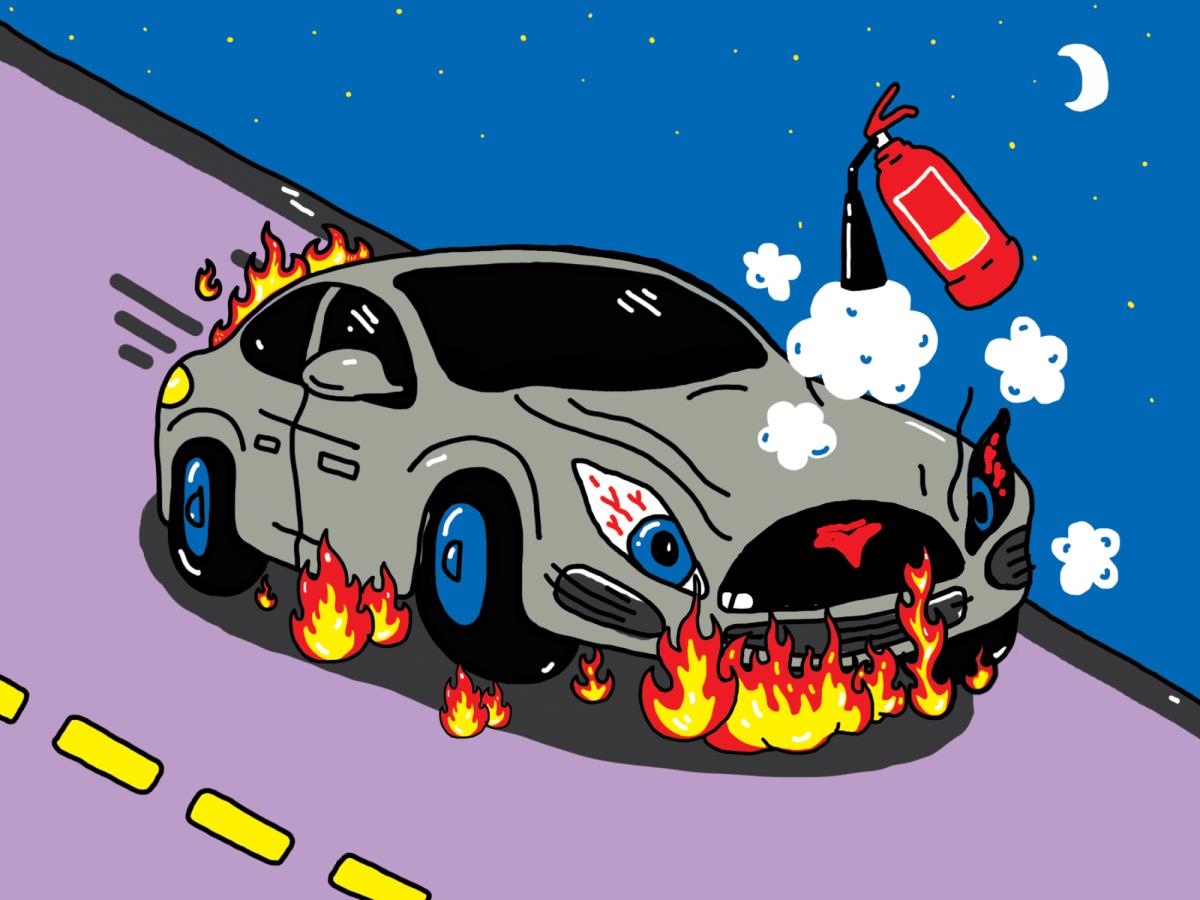 возгорания электрокаров - почему горят Теслы