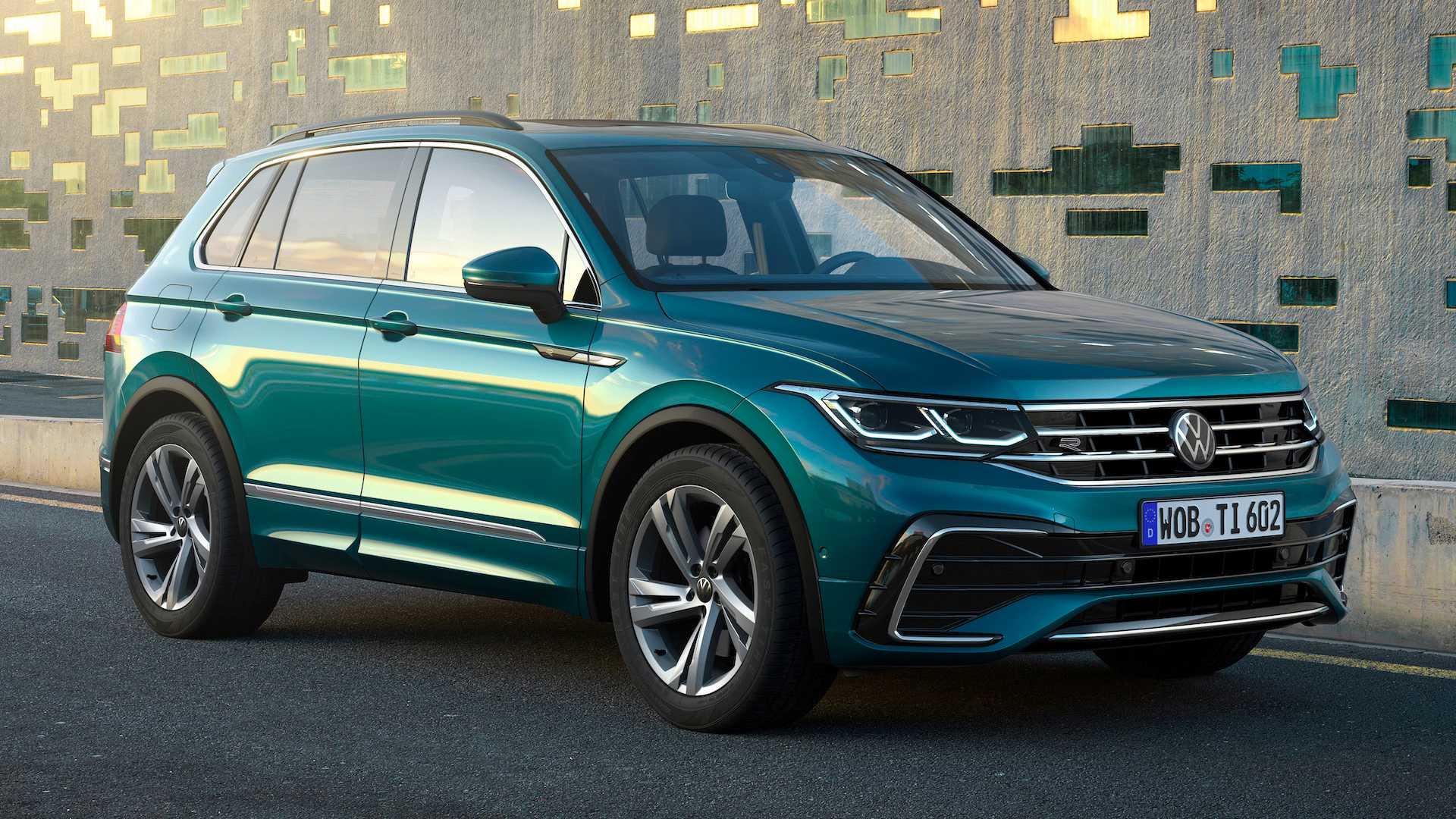 Новинка Volkswagen Tiguan 2021 подключили к сети