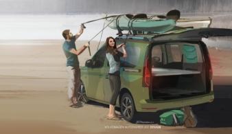 Volkswagen показал мини-кемпер на базе Caddy 5