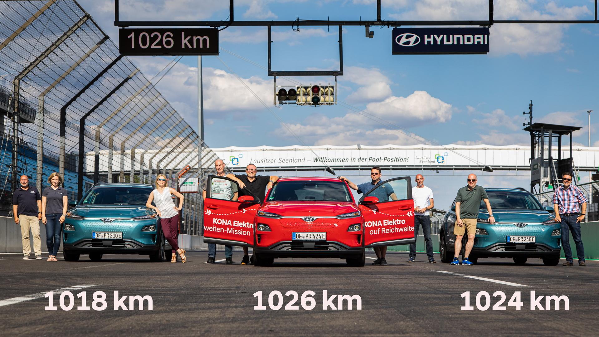 Новинка             Кроссовер Hyundai Kona Electric преодолел 1000 км без подзарядки