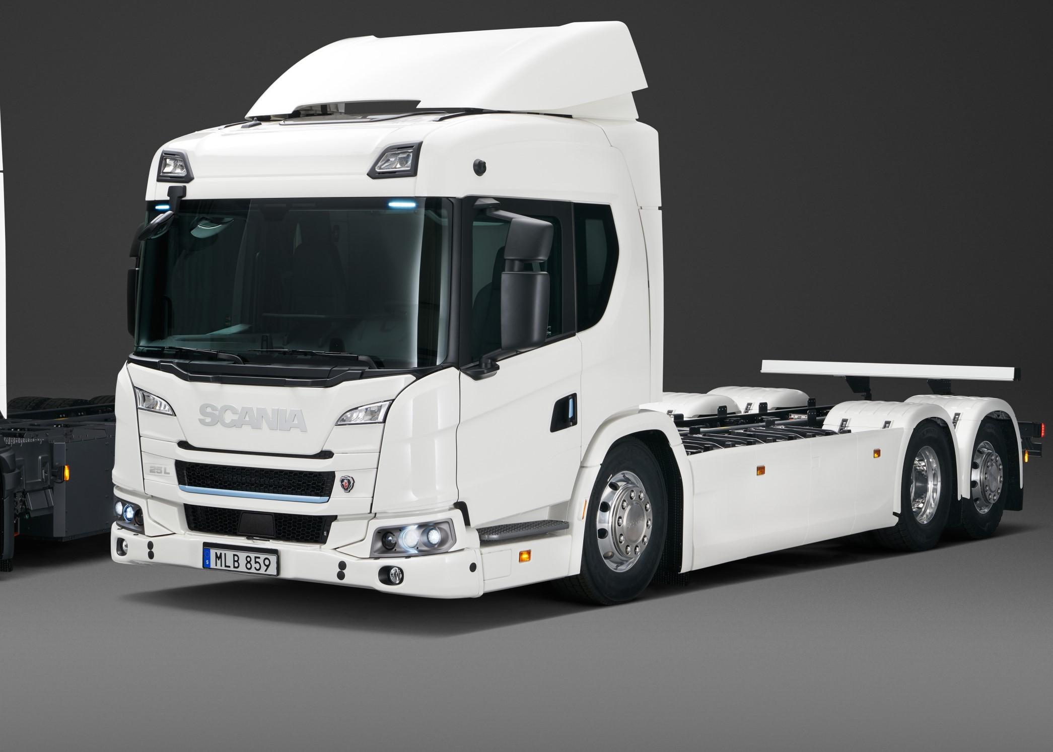 Scania презентовала электрогрузовик с запасом хода 250 км (видео)