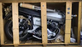 На продажу выставили 43-летний мотоцикл, который даже никто не трогал