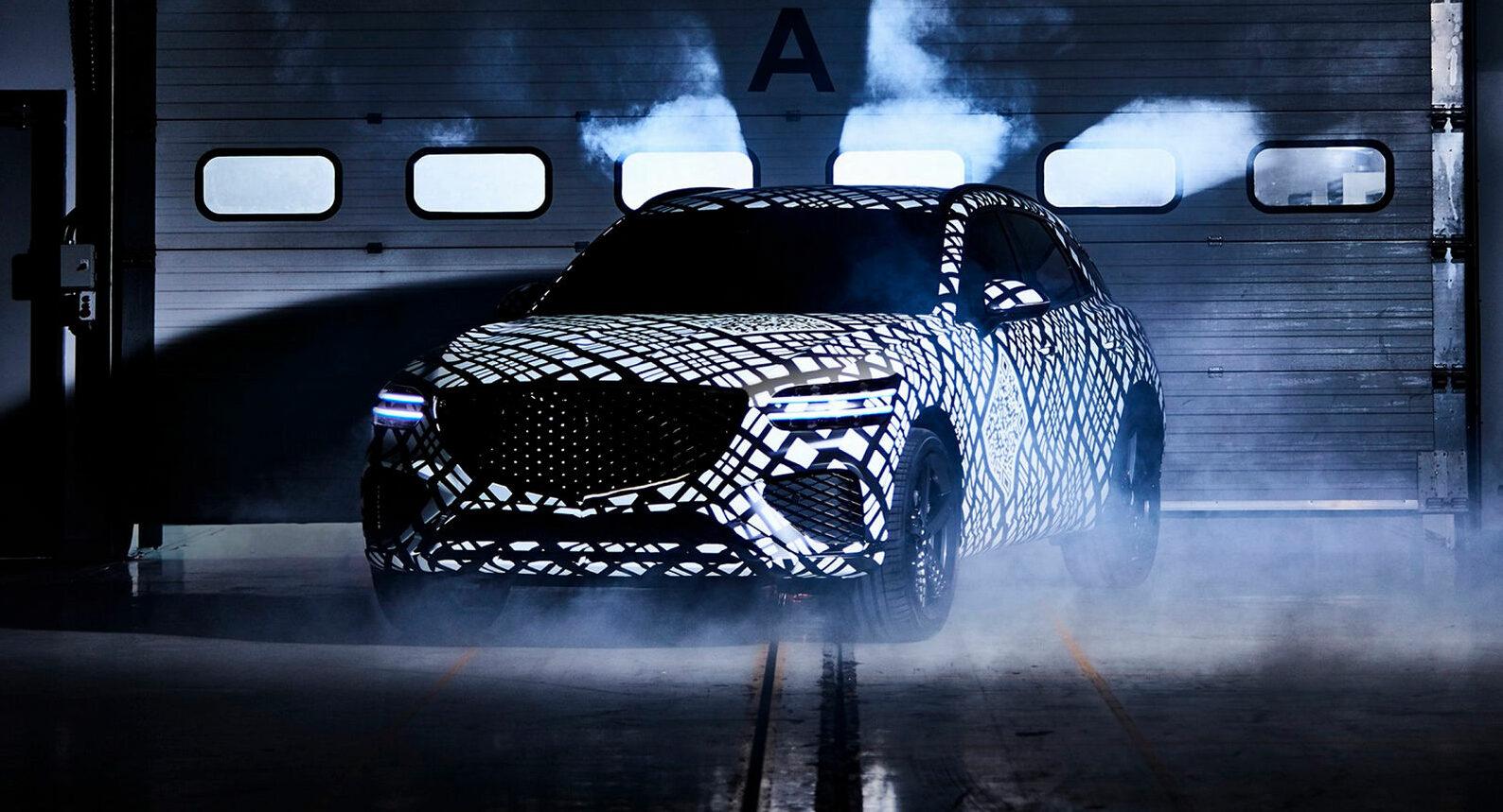 Новинка             Hyundai показала кроссовер Genesis GV70 для соперничества с Mercedes GLC и Audi Q5