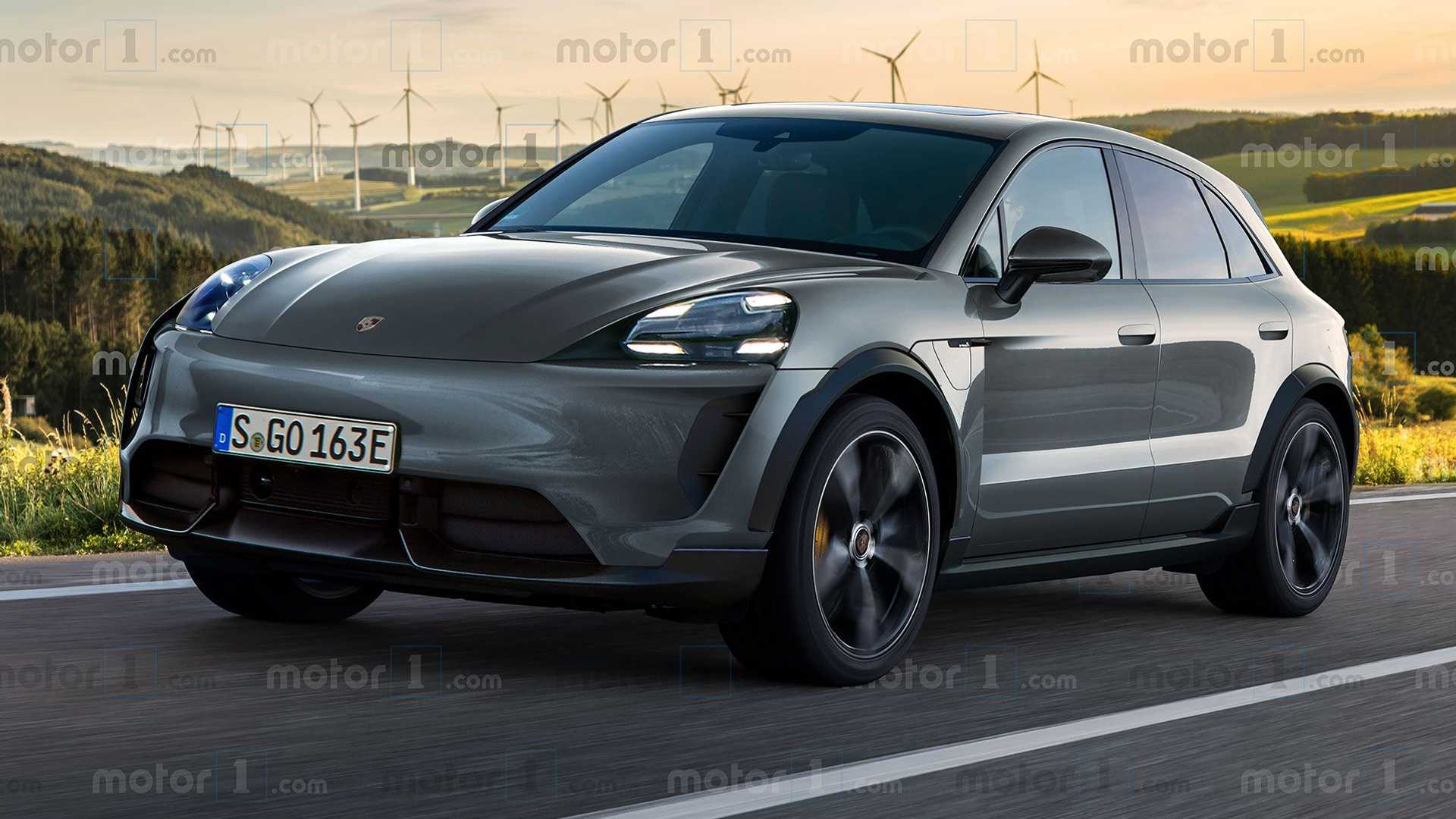 В Сети показали первые изображения электромобиля Porsche Macan (ФОТО)