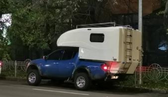 На дорогах замечен кемпер Mitsubishi L200 украинского производства