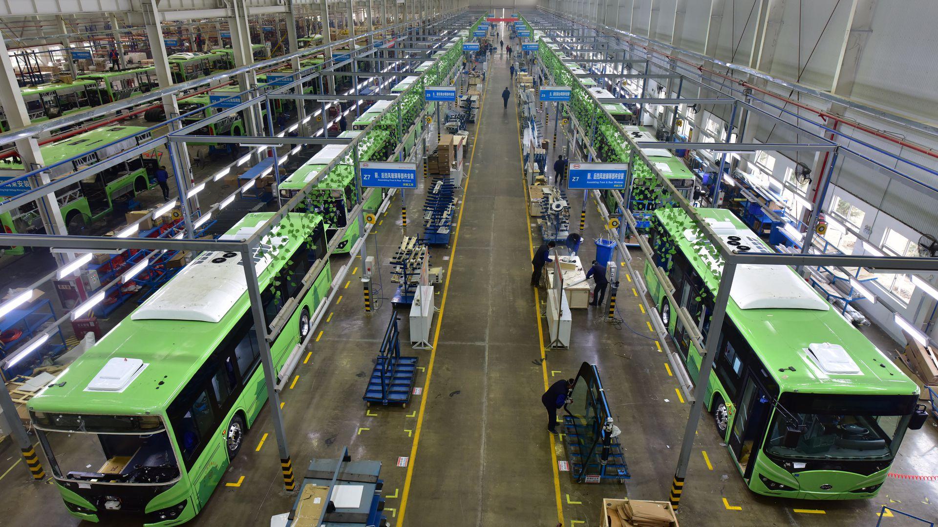 Продажи китайских автобусов резко упали в 2020 году