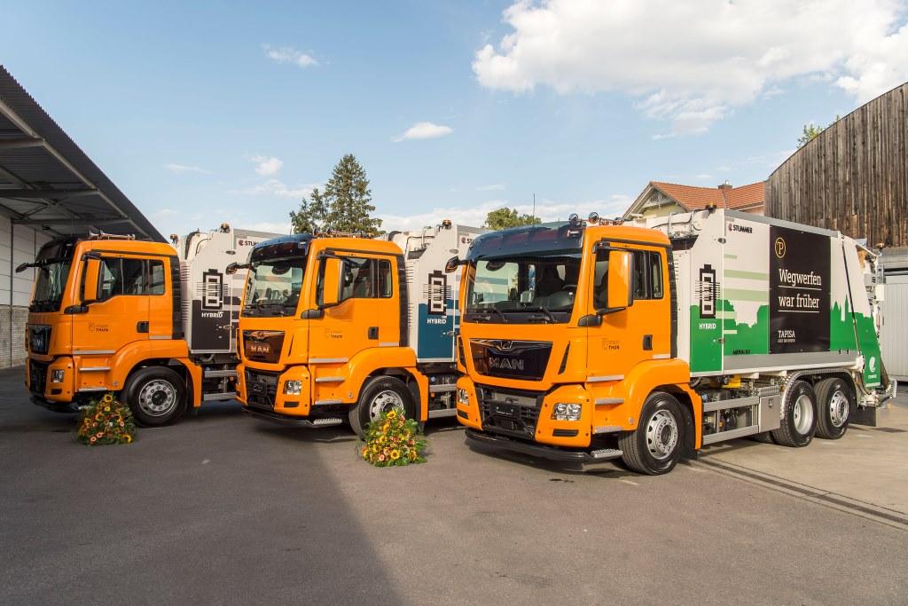 Гибридные мусоровозы: комбинация ДВС, АКП и электропривода