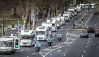В Германии протестуют владельцы домов на колесах
