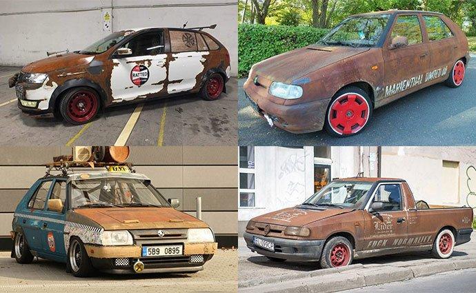На фото показали самые ржавые автомобили Skoda в мире