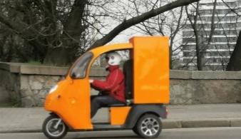 В Украине появился интересный транспорт для курьерской доставки