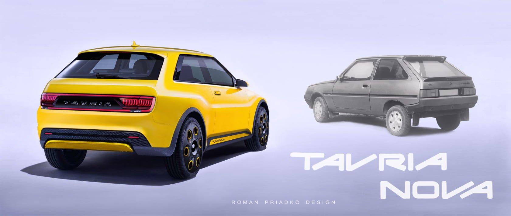 Новый украинский электромобиль показали на фото: ZAZ Tavria 2021 1